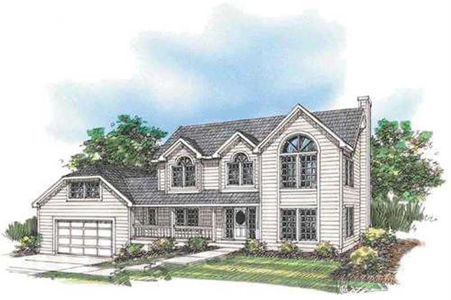 4-Bedroom, 2455 Sq Ft Concrete Block/ ICF Design House Plan - 132-1331 - Front Exterior