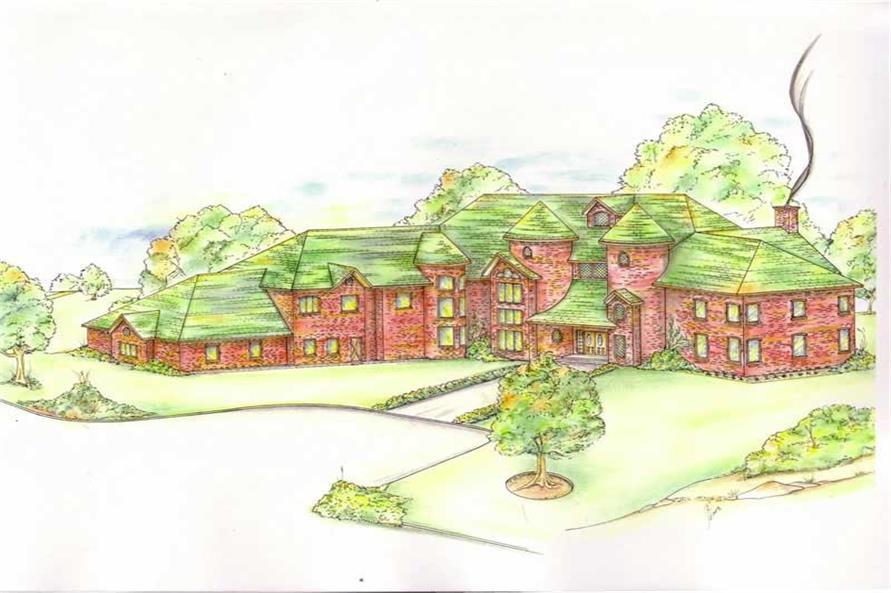 European House Plan 180 1043 5 Bedrm 9104 Sq Ft Home Plan: Luxury House Plans- European Home Design GHD-3064 # 8807