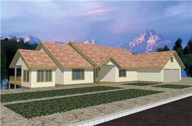 4-Bedroom, 2205 Sq Ft Contemporary Home Plan - 132-1337 - Main Exterior