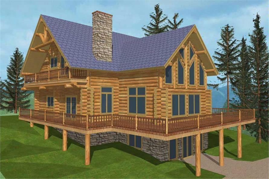 Log Cabins # 9248 main elevation.