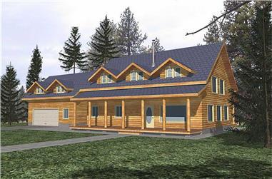 3-Bedroom, 2586 Sq Ft Cabin Home - Plan #132-1345 - Main Exterior