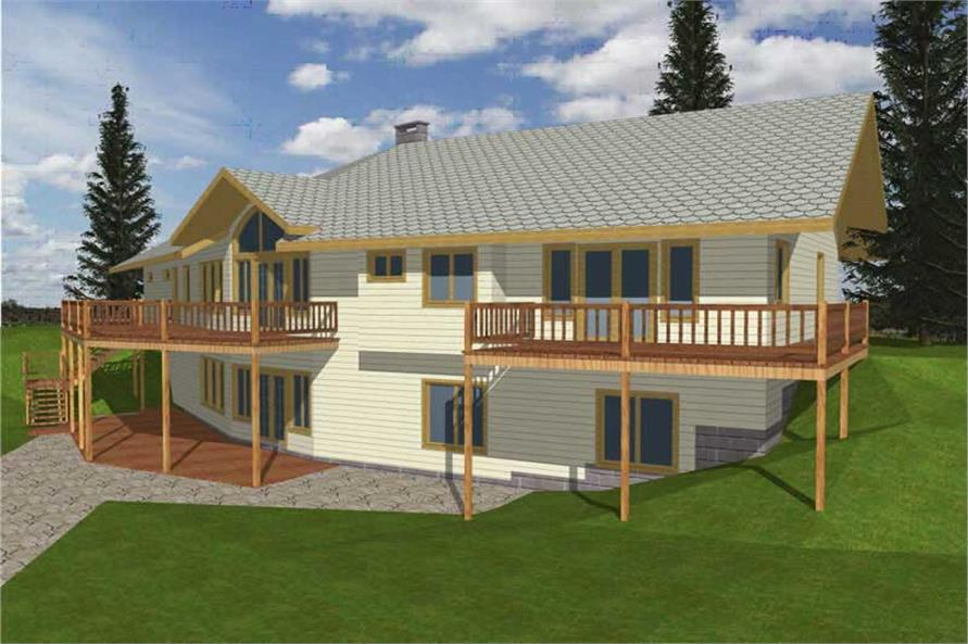 2-Bedroom, 1845 Sq Ft Concrete Block/ ICF Design Home Plan - 132-1348 - Main Exterior