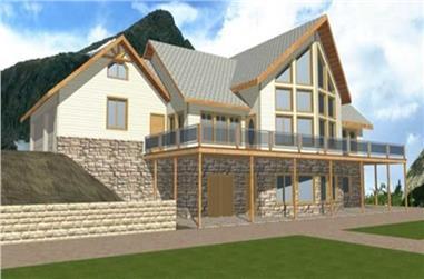 1-Bedroom, 3892 Sq Ft Concrete Block/ ICF Design Home Plan - 132-1350 - Main Exterior