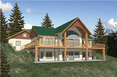 2-Bedroom, 3284 Sq Ft Concrete Block/ ICF Design Home Plan - 132-1351 - Main Exterior