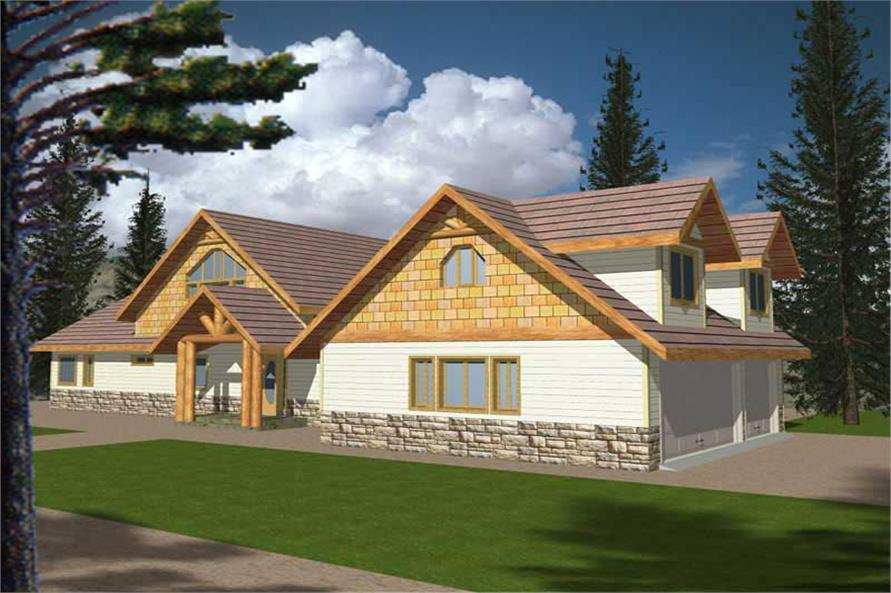 2-Bedroom, 2615 Sq Ft Concrete Block/ ICF Design Home Plan - 132-1352 - Main Exterior
