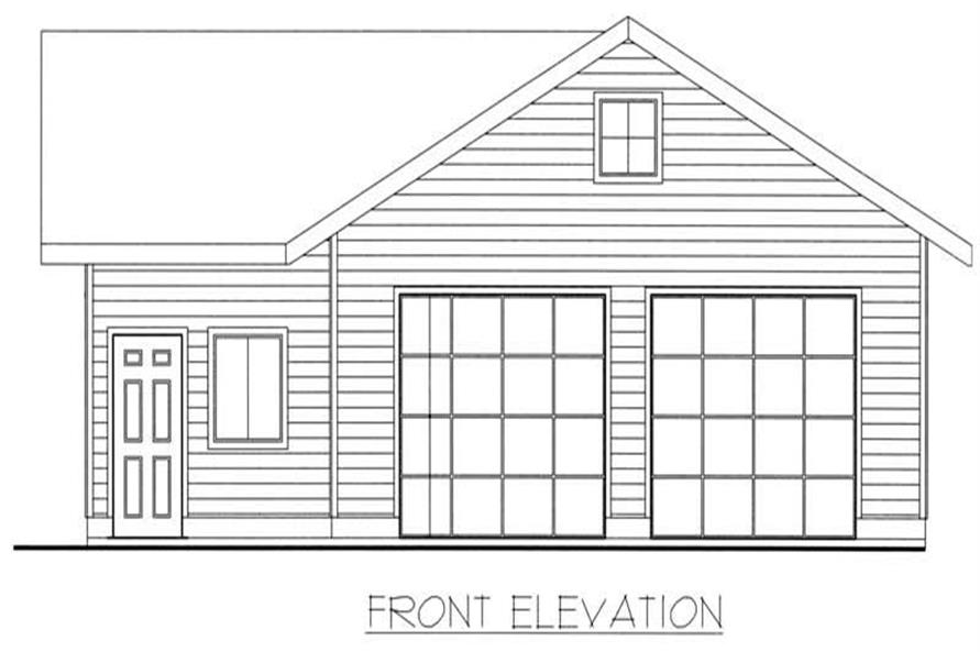 Home Plan Front Elevation of this 1-Bedroom,932 Sq Ft Plan -132-1353