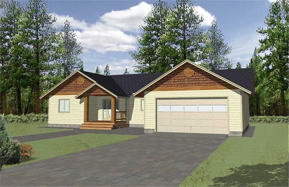 Main image for house plan # 9983