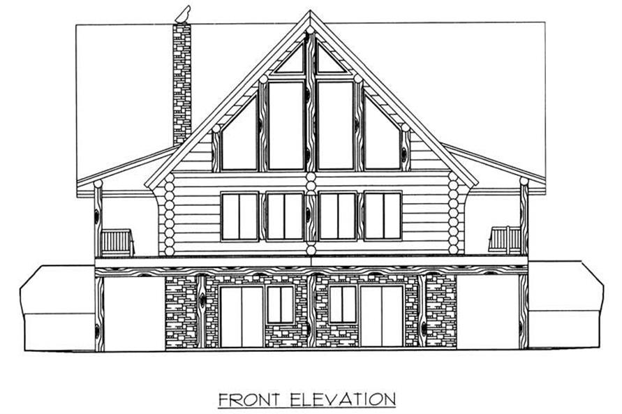 Home Plan Front Elevation of this 3-Bedroom,3805 Sq Ft Plan -132-1357