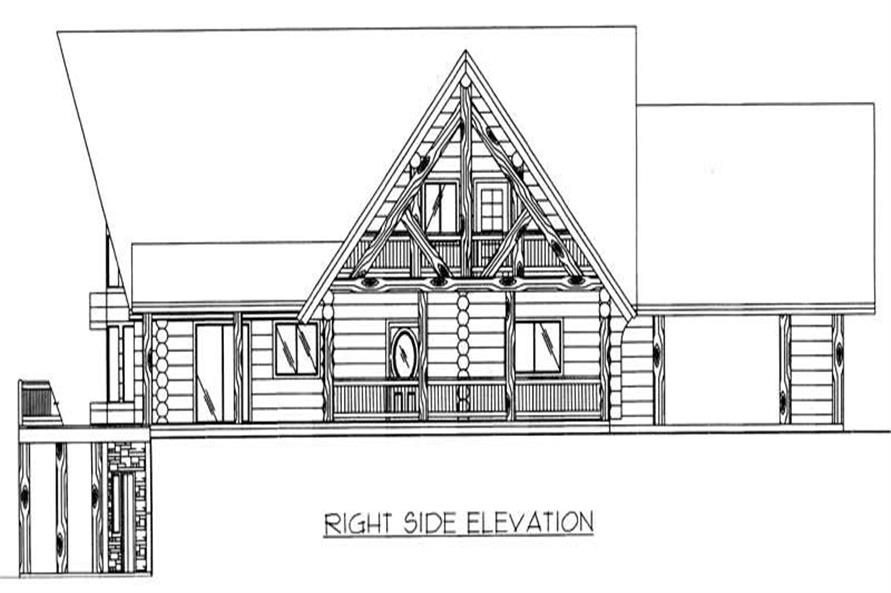Home Plan Right Elevation of this 3-Bedroom,3805 Sq Ft Plan -132-1357