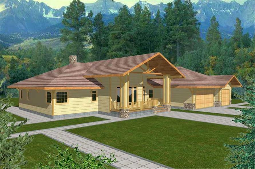 3-Bedroom, 2618 Sq Ft Contemporary Home Plan - 132-1365 - Main Exterior