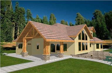 3-Bedroom, 2857 Sq Ft Ranch Home Plan - 132-1366 - Main Exterior