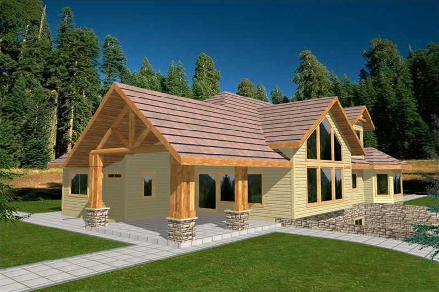 3-Bedroom, 2857 Sq Ft Ranch Home Plan - 132-1366 - Main Exterior