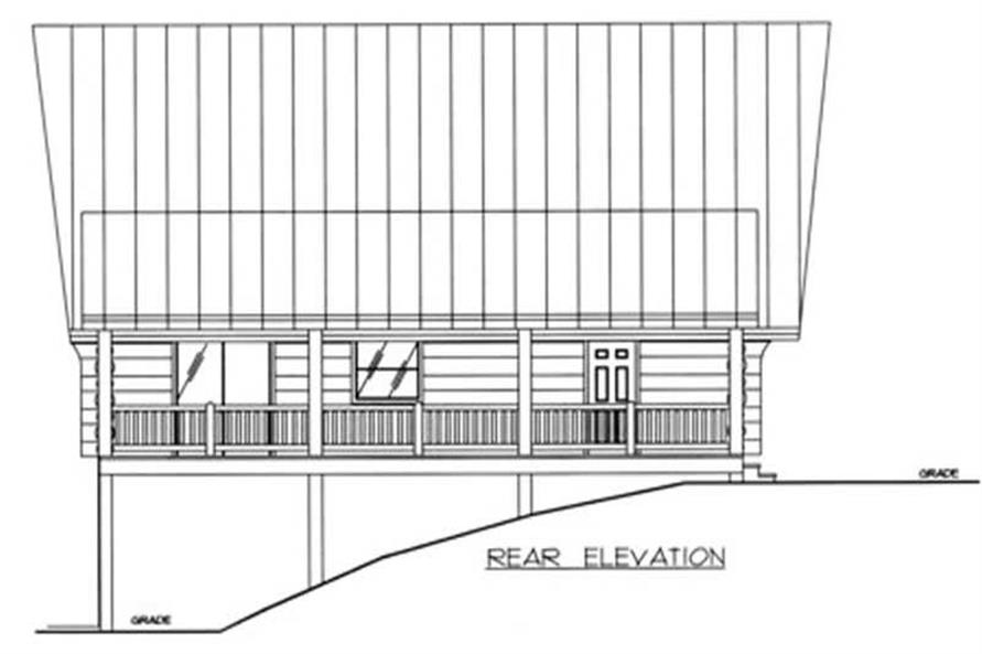 Home Plan Rear Elevation of this 2-Bedroom,1805 Sq Ft Plan -132-1369