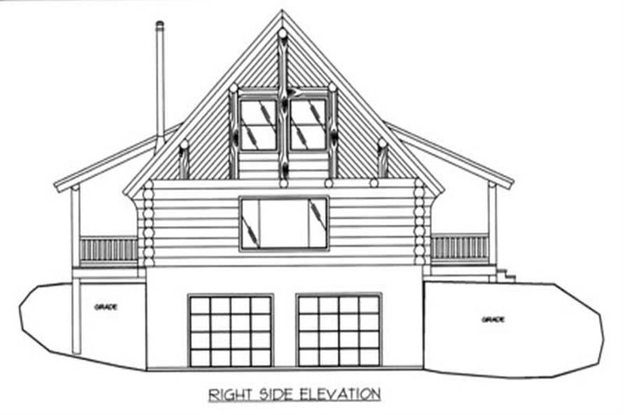 Home Plan Right Elevation of this 2-Bedroom,1805 Sq Ft Plan -132-1369
