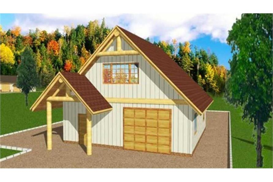 Home Plan Rendering of this 0-Bedroom,720 Sq Ft Plan -132-1370