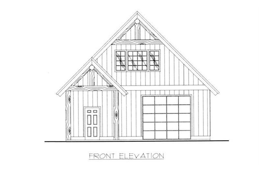 132-1370: Home Plan Front Elevation