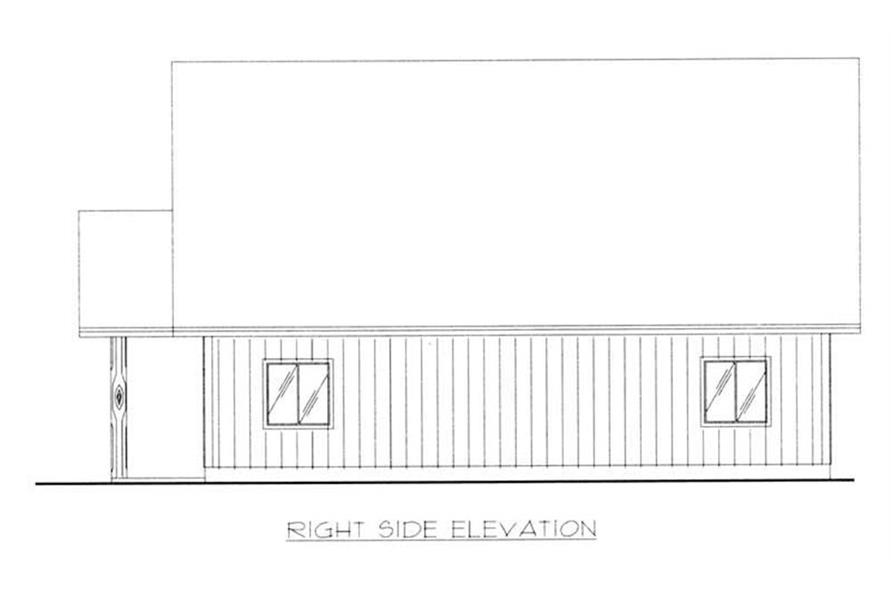 Home Plan Right Elevation of this 0-Bedroom,720 Sq Ft Plan -132-1370
