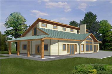 3-Bedroom, 2212 Sq Ft Concrete Block/ ICF Design Home Plan - 132-1372 - Main Exterior