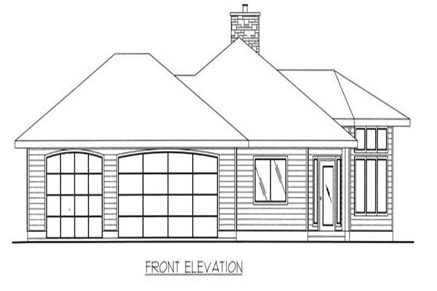 Home Plan Front Elevation of this 3-Bedroom,2075 Sq Ft Plan -132-1374