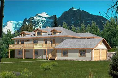4-Bedroom, 2812 Sq Ft Ranch House Plan - 132-1377 - Front Exterior