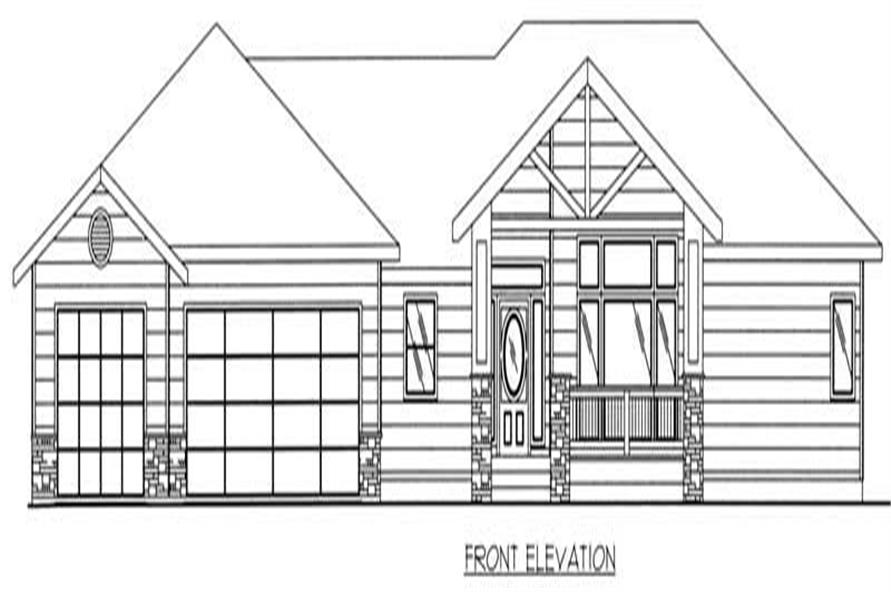 Home Plan Front Elevation of this 3-Bedroom,2709 Sq Ft Plan -132-1378