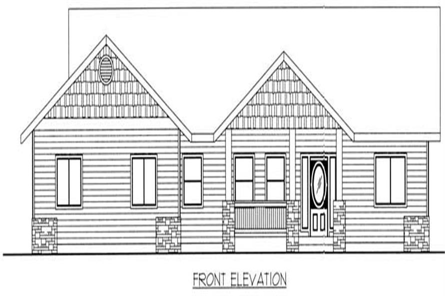 Home Plan Front Elevation of this 3-Bedroom,1898 Sq Ft Plan -132-1379