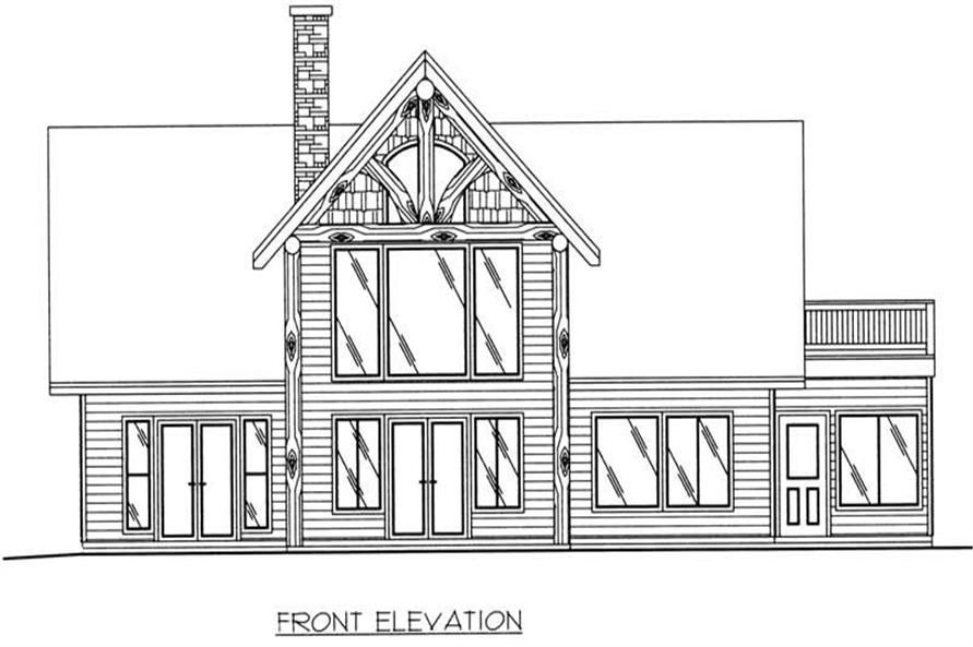 Home Plan Front Elevation of this 3-Bedroom,1713 Sq Ft Plan -132-1380