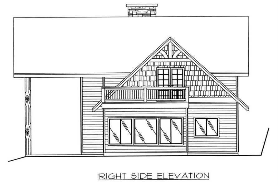 Home Plan Right Elevation of this 3-Bedroom,1713 Sq Ft Plan -132-1380