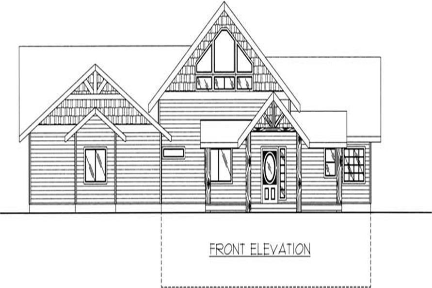 Home Plan Front Elevation of this 2-Bedroom,2214 Sq Ft Plan -132-1382