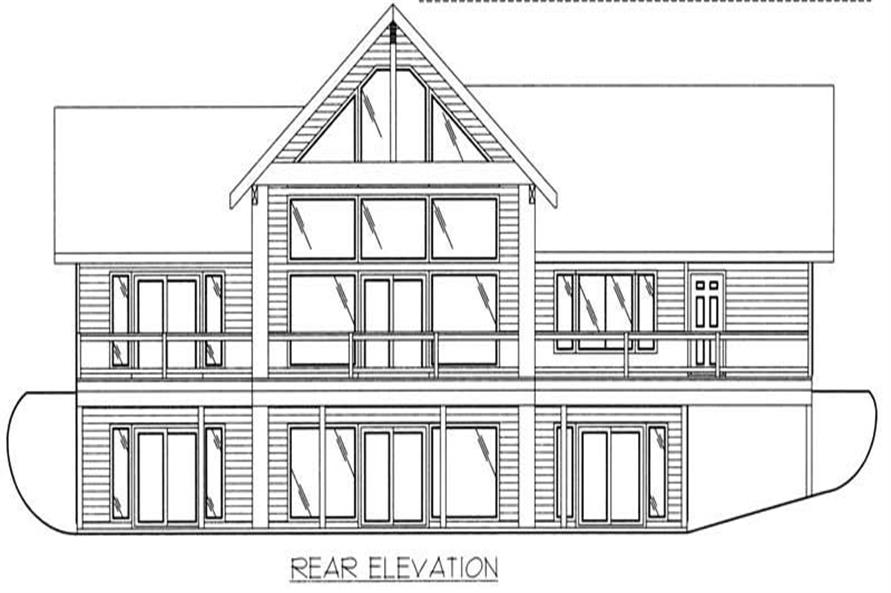 Home Plan Rear Elevation of this 2-Bedroom,2214 Sq Ft Plan -132-1382