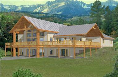 2-Bedroom, 2214 Sq Ft Craftsman Home Plan - 132-1382 - Main Exterior