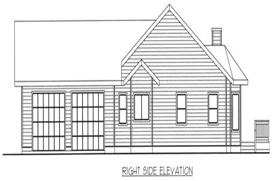 Home Plan Right Elevation of this 3-Bedroom,1898 Sq Ft Plan -132-1383
