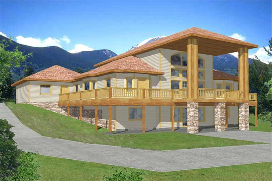 3-Bedroom, 2428 Sq Ft Vacation Homes Home Plan - 132-1384 - Main Exterior
