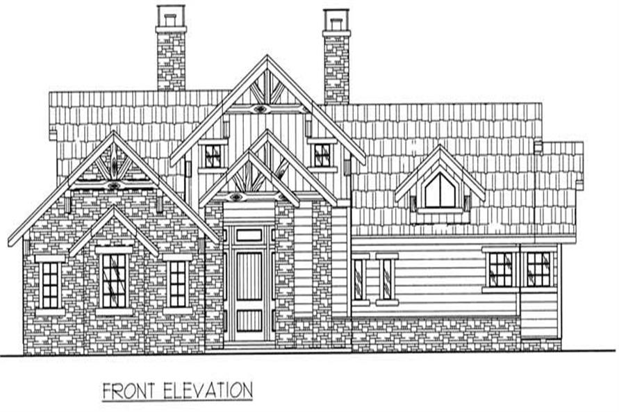 Home Plan Front Elevation of this 3-Bedroom,3650 Sq Ft Plan -132-1385