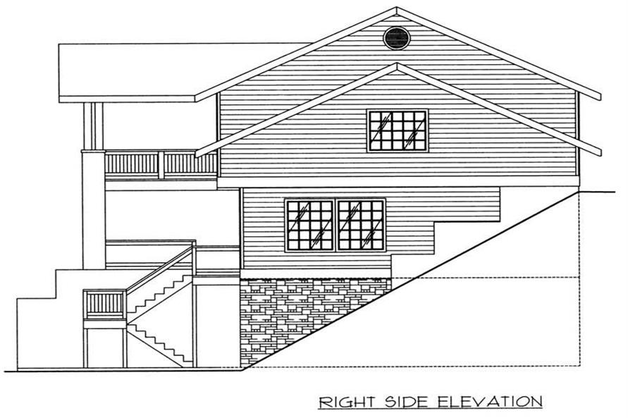 Home Plan Right Elevation of this 3-Bedroom,3164 Sq Ft Plan -132-1386