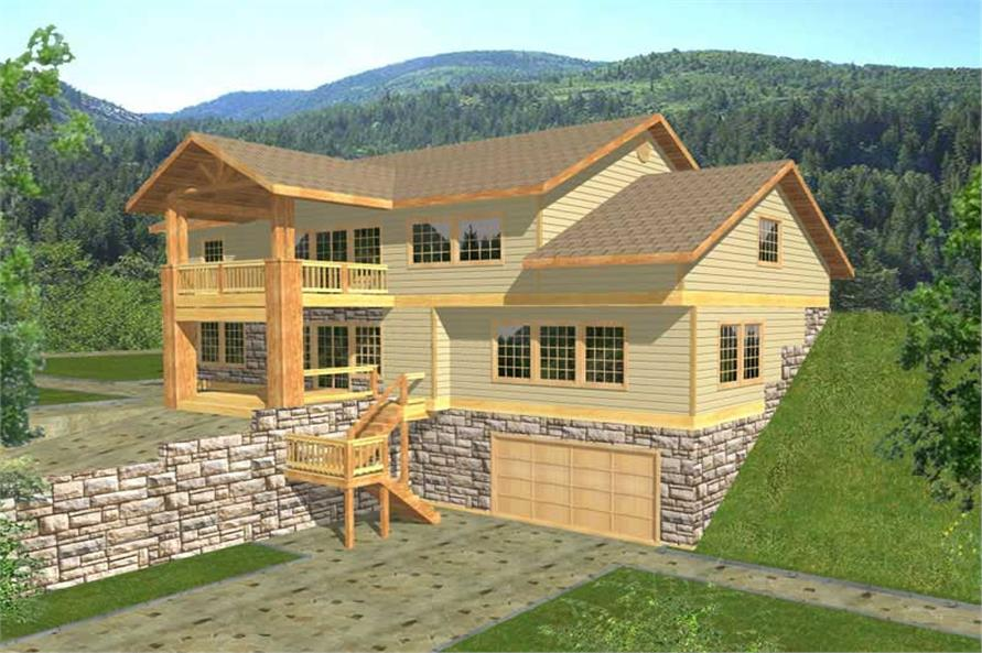 3-Bedroom, 3164 Sq Ft Country Home Plan - 132-1386 - Main Exterior