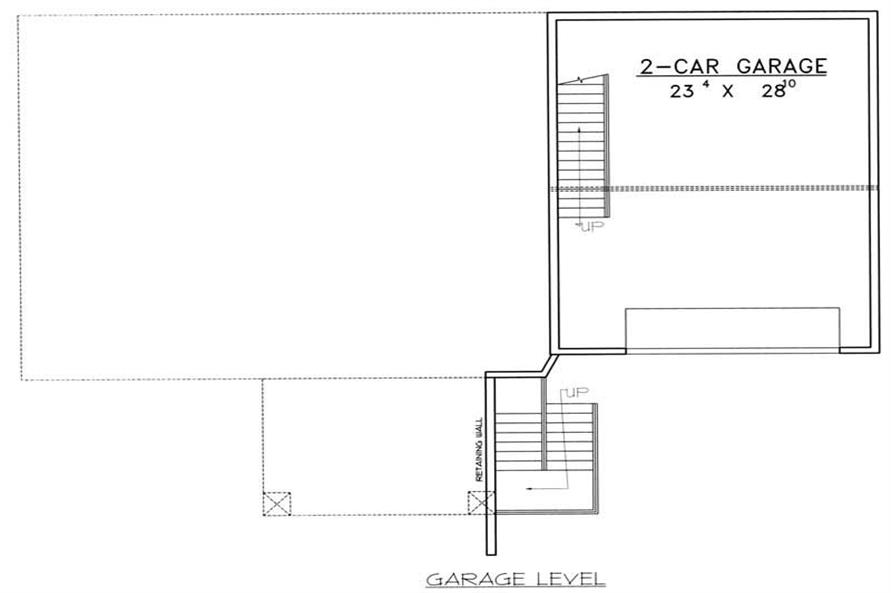 GARAGE FLOOR PLAN of this 3-Bedroom,3164 Sq Ft Plan -3164