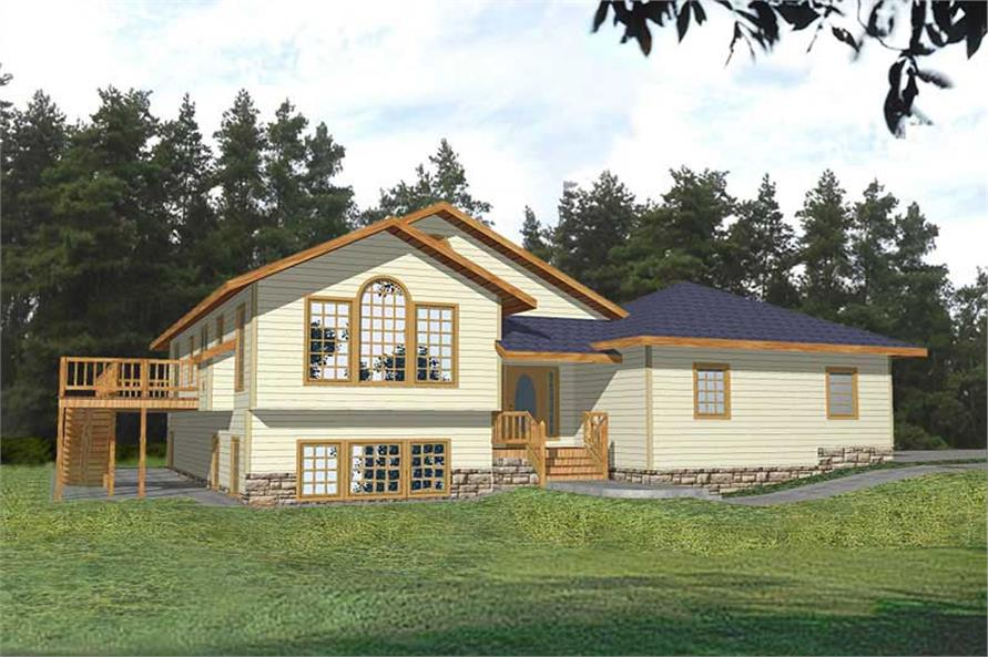 3-Bedroom, 2683 Sq Ft Country Home Plan - 132-1390 - Main Exterior