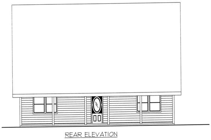 Home Plan Rear Elevation of this 3-Bedroom,1849 Sq Ft Plan -132-1391