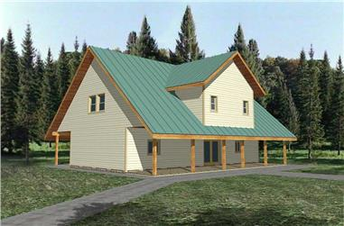 3-Bedroom, 1849 Sq Ft Concrete Block/ ICF Design House Plan - 132-1391 - Front Exterior