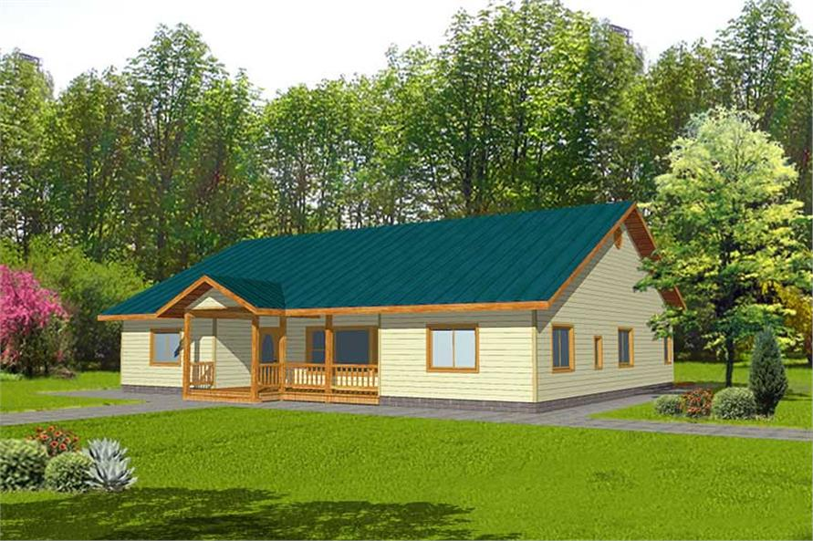 3-Bedroom, 2482 Sq Ft Ranch House Plan - 132-1392 - Front Exterior