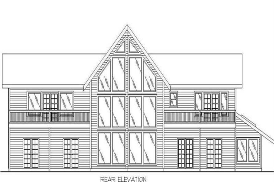 Home Plan Rear Elevation of this 5-Bedroom,3997 Sq Ft Plan -132-1393