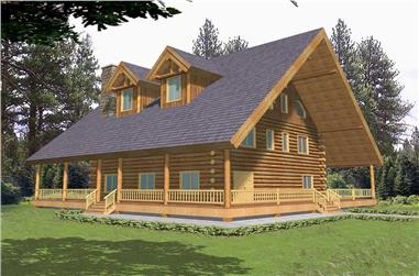 2-Bedroom, 4200 Sq Ft Country House Plan - 132-1397 - Front Exterior
