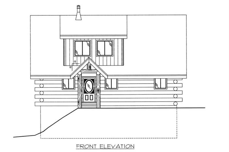 Home Plan Front Elevation of this 1-Bedroom,1485 Sq Ft Plan -132-1398