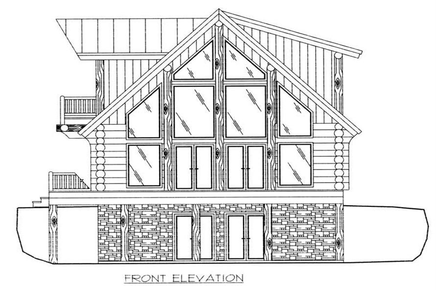 Home Plan Front Elevation of this 3-Bedroom,2057 Sq Ft Plan -132-1399