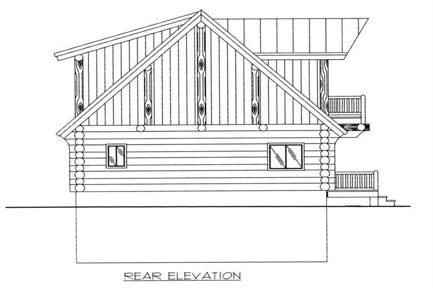 Home Plan Rear Elevation of this 3-Bedroom,2057 Sq Ft Plan -132-1399