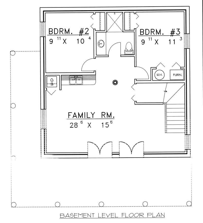 3 Bedrm 2057 Sq Ft Log Cabin House Plan 132 1399