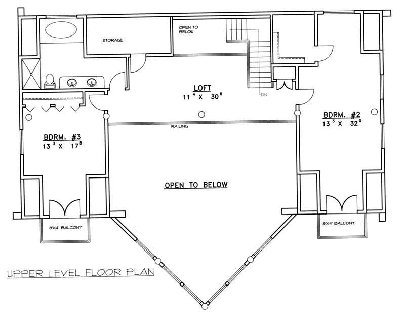 Log Cabin Home Plan 3 Bedrms 3 Baths 3219 Sq Ft