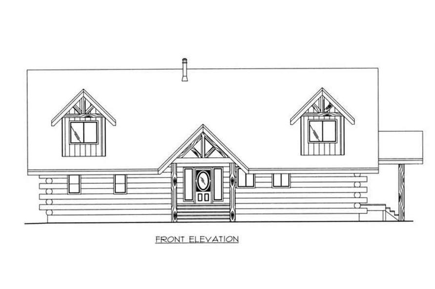 Home Plan Front Elevation of this 3-Bedroom,3219 Sq Ft Plan -132-1400