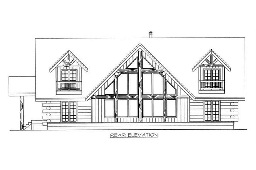 Home Plan Rear Elevation of this 3-Bedroom,3219 Sq Ft Plan -132-1400